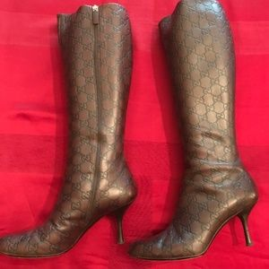 Vintage Gucci Leather Boots - Size 8